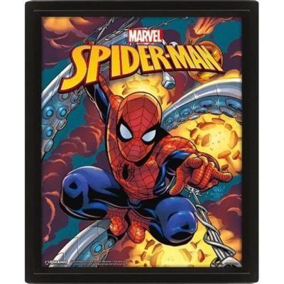 Marvel 3d lenticular poster 26x20 spider man costume blast