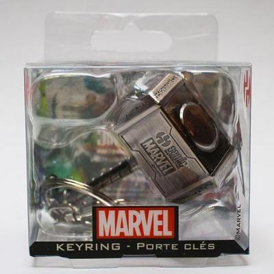Marvel 3d metal keychain blister box thor hammer 1