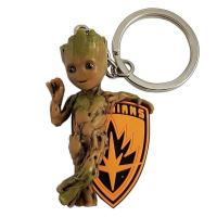 Marvel 3d pvc keychain blister box baby groot 1