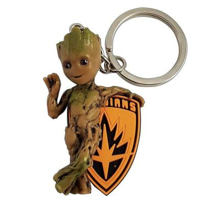 Marvel 3d pvc keychain blister box baby groot