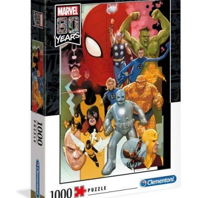 Marvel 80th annviersary characters puzzle 1000p