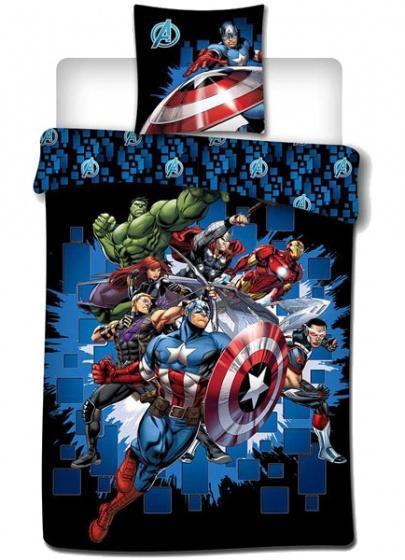Marvel avengers parure de lit 140x200cm 100 microfibre
