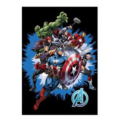 Marvel avengers plaid polaire 100 microfibre 70x140cm