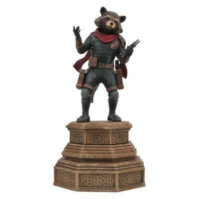 Marvel avengers rocket raccoon statuette marvel movie gallery 18cm