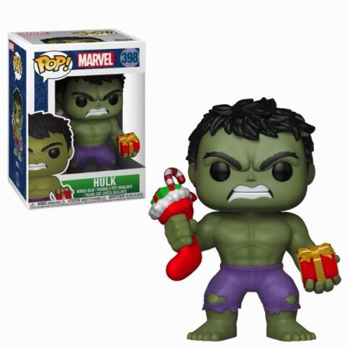 Marvel bobble head pop n 398 holiday hulk