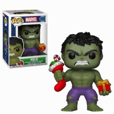 Marvel bobble head pop n 398 holiday hulk