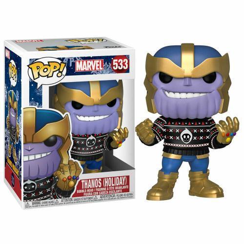 Marvel bobble head pop n 533 holiday thanos