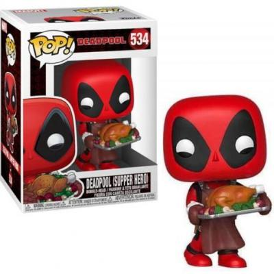 Marvel bobble head pop n 534 holiday deadpool