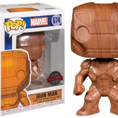 Marvel bobble head pop n 674 iron man wood deco sp edition