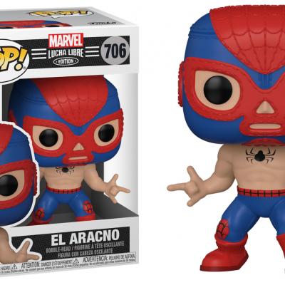 Marvel bobble head pop n 706 lucha libre spider man