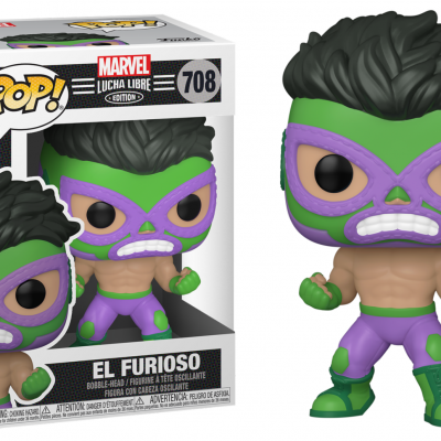 Marvel bobble head pop n 708 lucha libre hulk