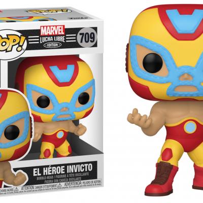 Marvel bobble head pop n 709 lucha libre iron man
