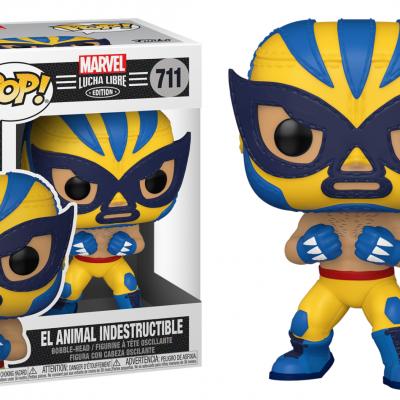 Marvel bobble head pop n 711 lucha libre wolverine