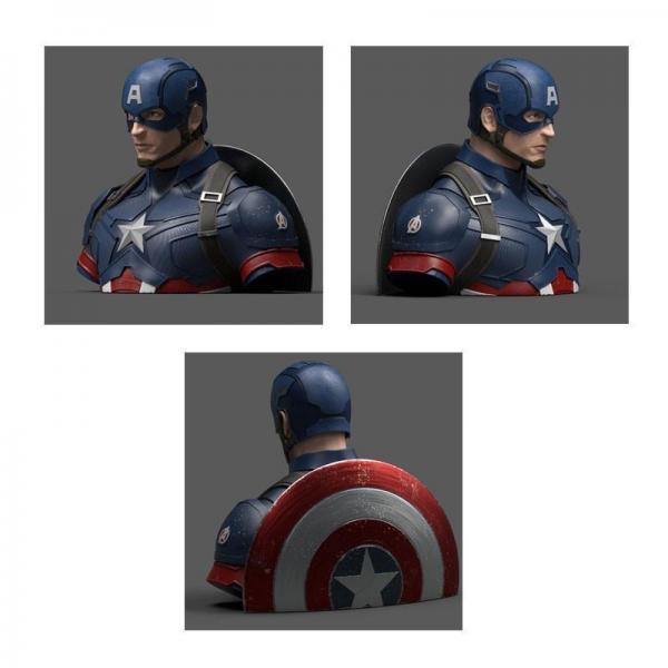 Marvel captain america avengers endgame tirelire buste 20cm