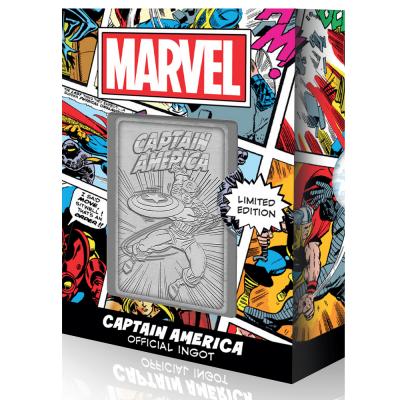 Marvel captain america carte en metal collector