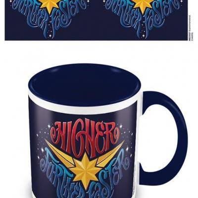 Marvel captain marvel blue mug interieur colore 315ml