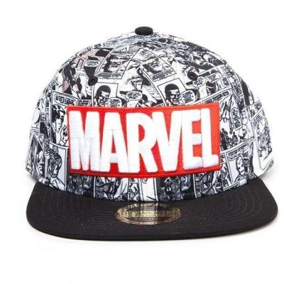 Marvel casquette snapback classic logo rouge blanc