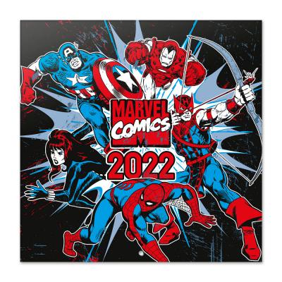 Marvel comics calendrier 2022 30x30cm