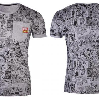 Marvel comics grey t shirt homme