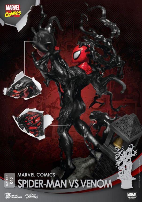 Marvel comics spider man vs venom d stage 15cm 1