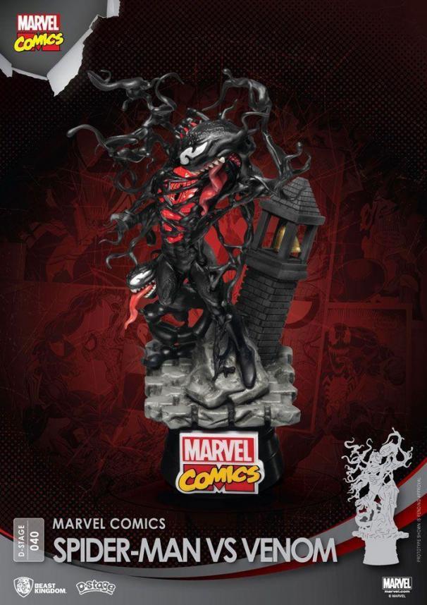 Marvel comics spider man vs venom d stage 15cm 2