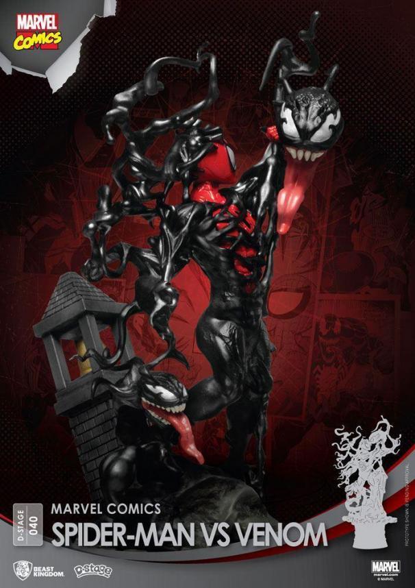 Marvel comics spider man vs venom d stage 15cm 3