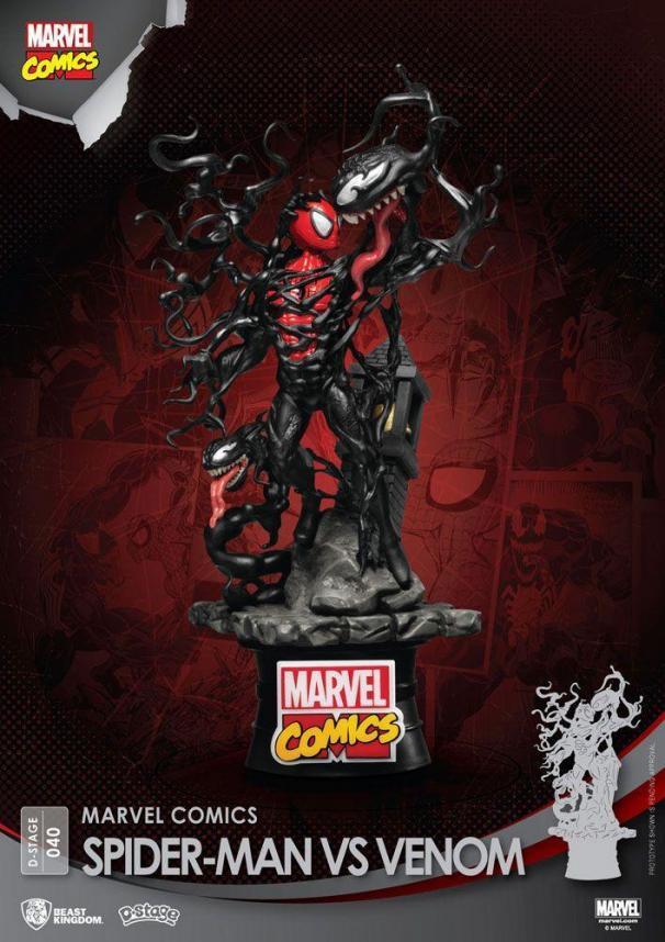 Marvel comics spider man vs venom d stage 15cm