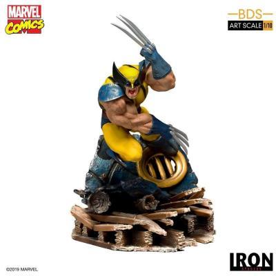 Marvel comics statuette 1 10 bds art scale wolverine 22cm