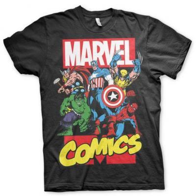 Marvel comics t shirt black
