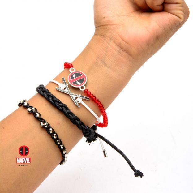 Marvel deadpool arm party bracelet set 1