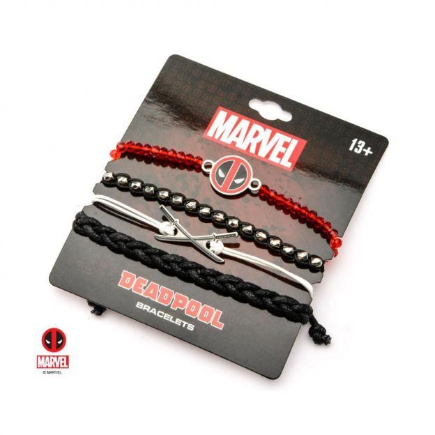 Marvel deadpool arm party bracelet set