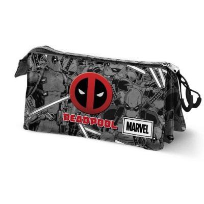 Marvel deadpool trousse triple 23x10x5cm