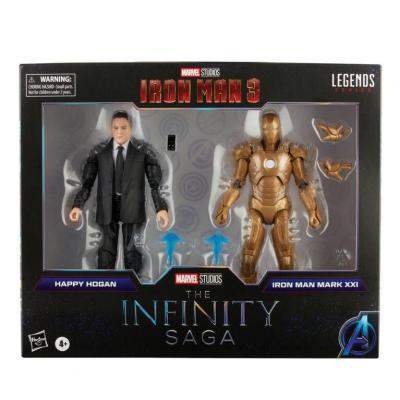 Marvel happy hogan iron man pack 2 figurines legends series 15cm