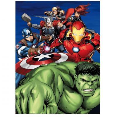 Marvel heroes plaid polaire 100 microfibre 70x140cm