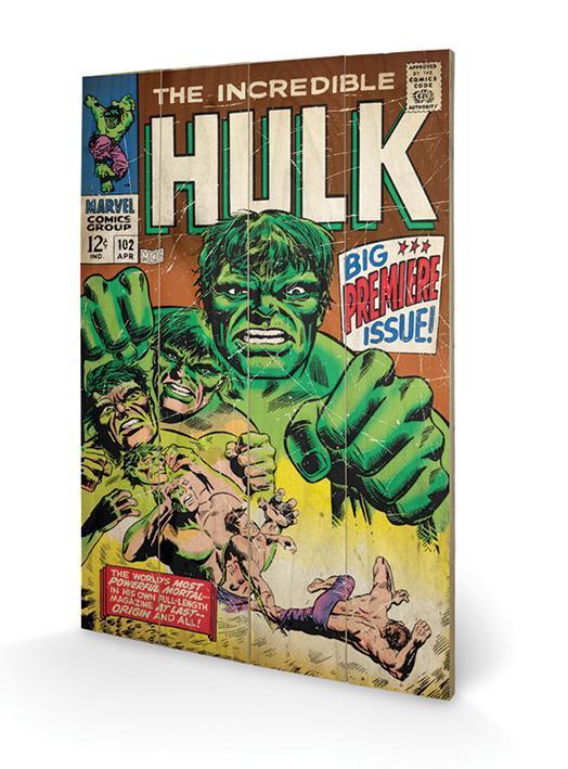 Marvel hulk big issue impression sur bois 40x59cm
