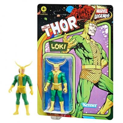 Marvel loki figurine legends retro series 10cm