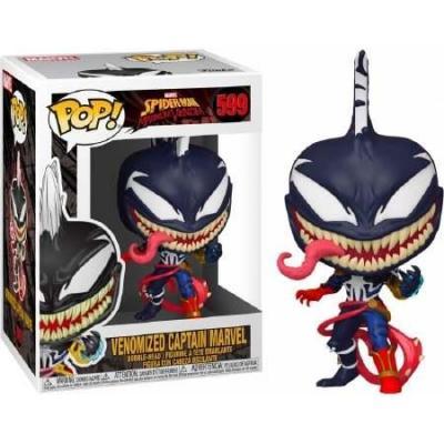 Marvel max venom bobble head pop n 599 captain marvel