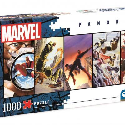 Marvel panorama puzzle 1000p