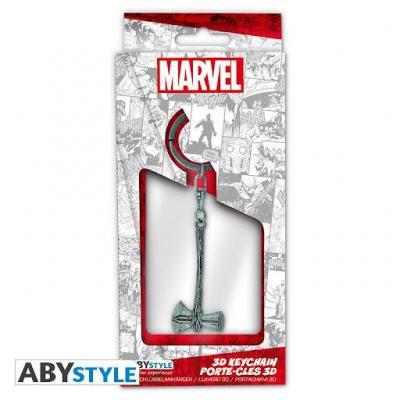 Marvel porte cles metal 3d marteau hache de thor stormbreaker