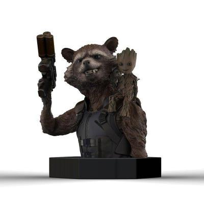 Marvel racoon groot buste 12cm