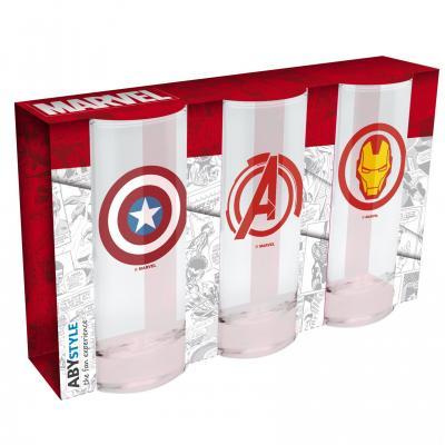 Marvel set de 3 verres