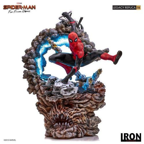 Marvel spider man far from home statuette legacy replica 60cm