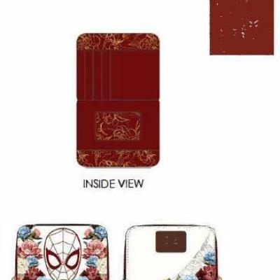 Marvel spider man portefeuille loungefly 12 5x10