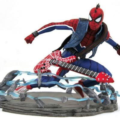 Marvel spider punk figurine marvel video game gallery 18cm
