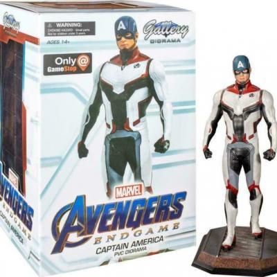 Marvel team suit captain america exclusive statuette 23cm