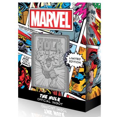 Marvel the hulk carte en metal collector