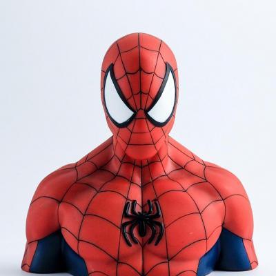 Marvel tirelire boite blister spider man bust 20 cm