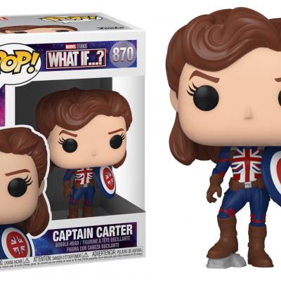 Marvel what if bobble head pop n 870 captain carter