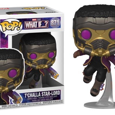 Marvel what if bobble head pop n 871 t challa star lord