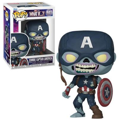 Marvel what if bobble head pop n 941 zombie captain america